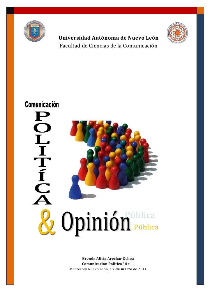 Comunicación politica y opinion publica