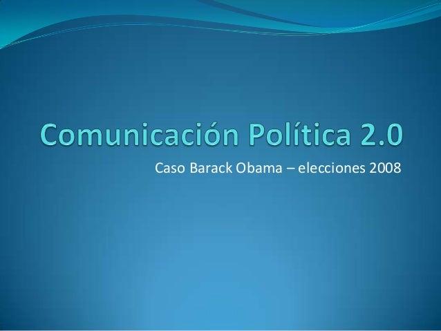 Comunicación política 2.0