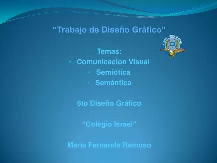 Comunicación visual, Semiótica y Semántica