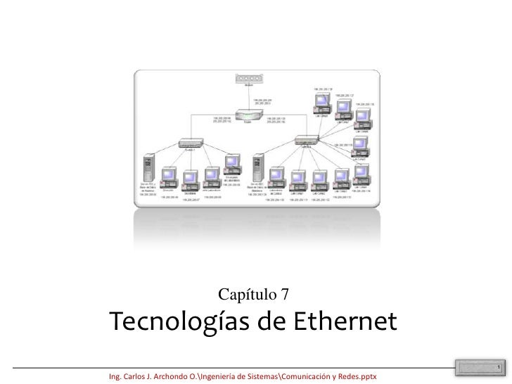 1<br />Capítulo 7<br />Tecnologías de Ethernet<br />
