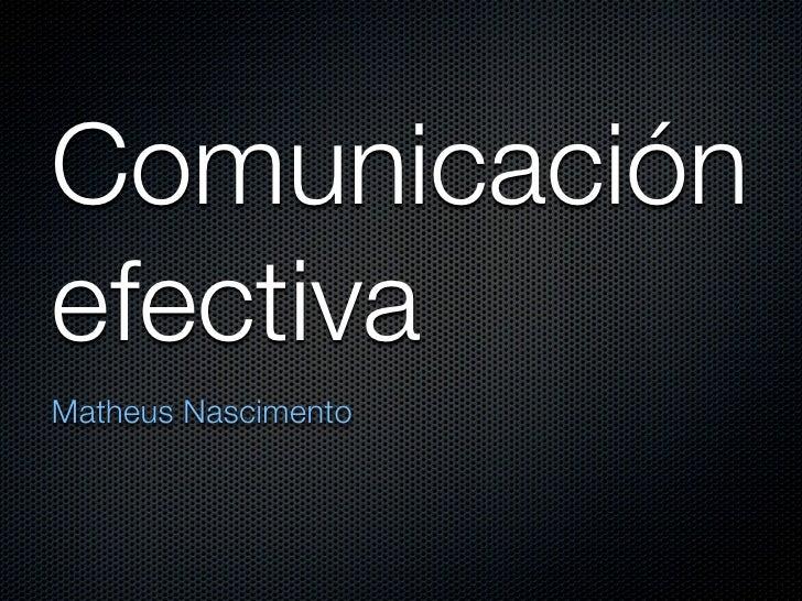 Comunicación personal efectiva