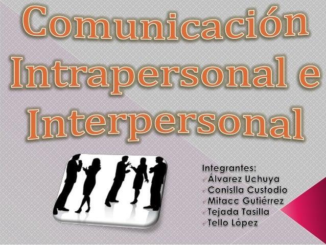 Comunicacion Intra-Inter Personal