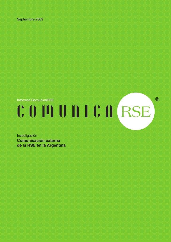 Investigación: Comunicación externa de la RSE en la Argentina