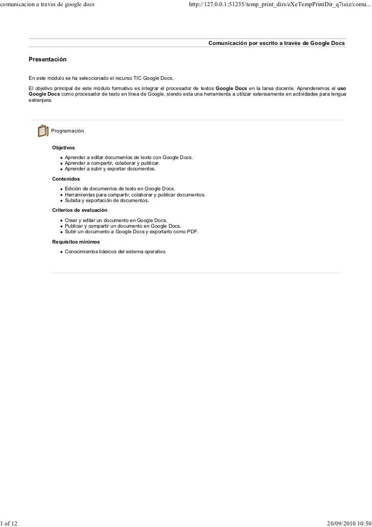Comunicacion a traves_de_google_docs
