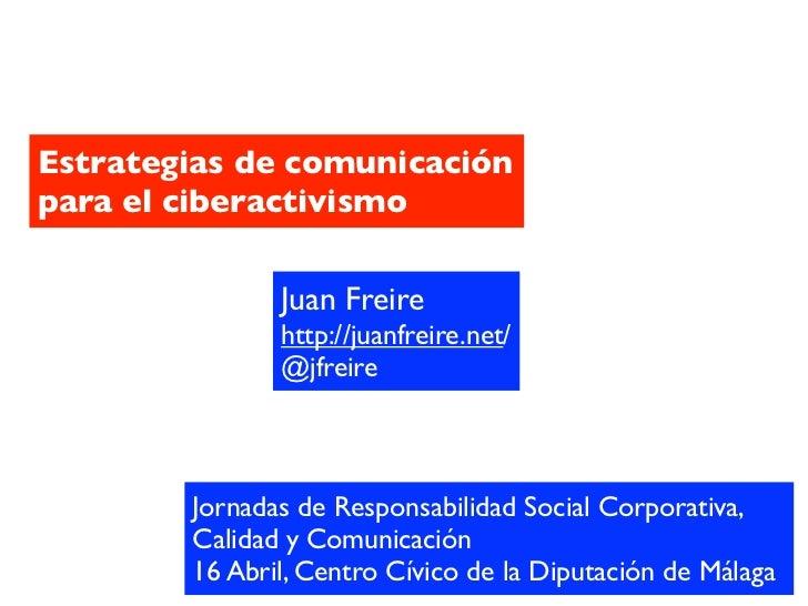 Estrategias de comunicación para el ciberactivismo