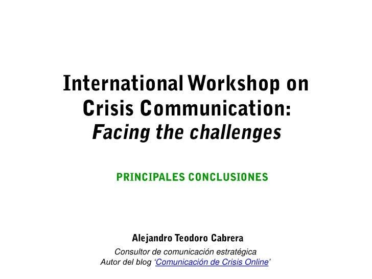 Consultor de comunicación estratégicaAutor del blog 'Comunicación de Crisis Online'