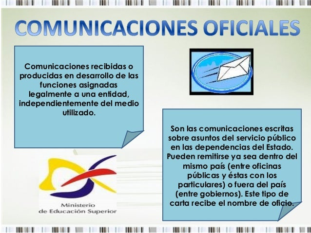 Comunicaciones oficiales