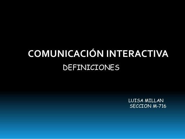 Comunicacion interactiva