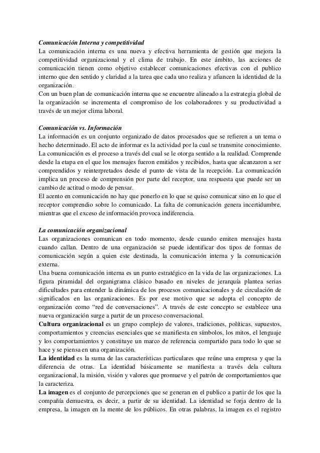 Comunicación Interna y competitividadLa comunicación interna es una nueva y efectiva herramienta de gestión que mejora lac...