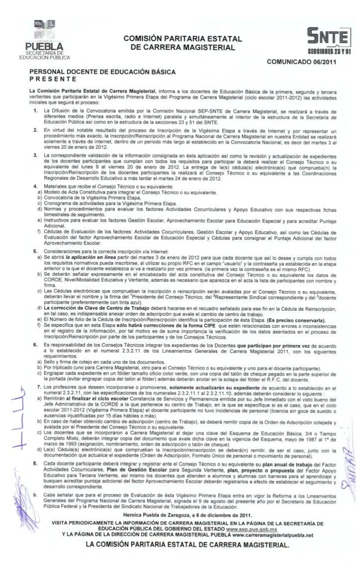 Inscripcion a Carrera Magisterial