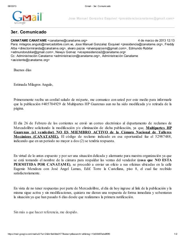 08/03/13                                                             Gmail - 3er. Comunicado                              ...