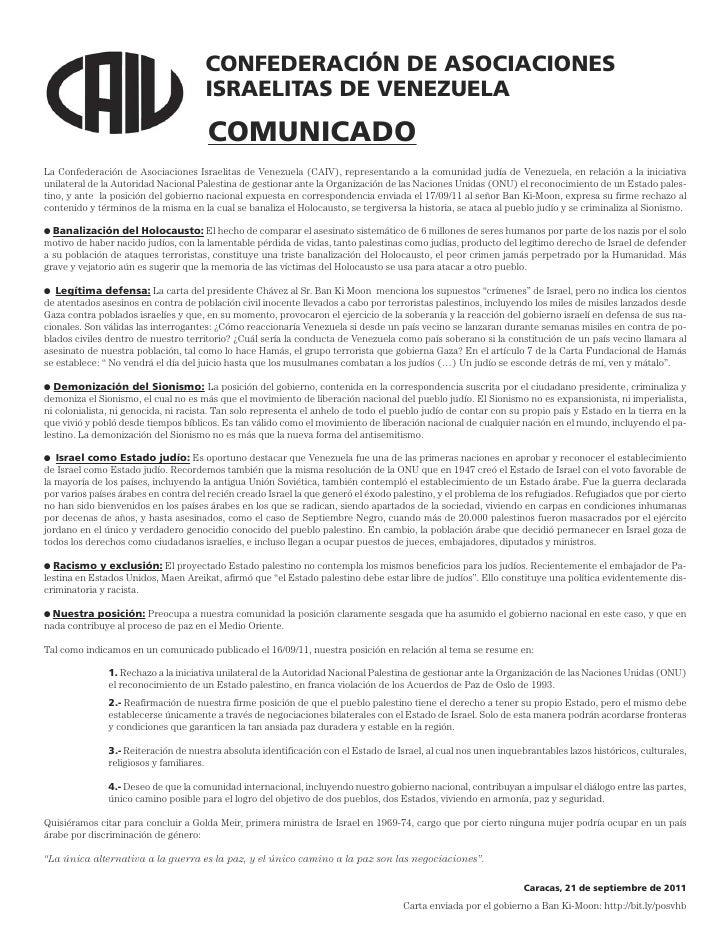 Comunicado CAIV 21 de septiembre 2011