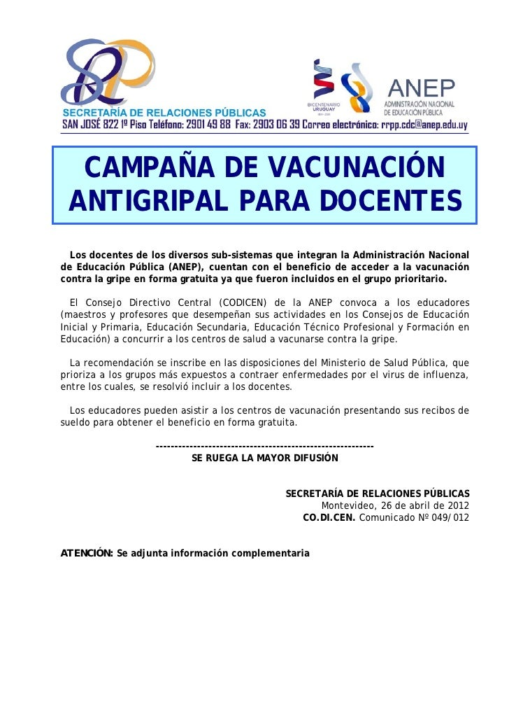 Comunicado nº 049 vacunación docentes-interno