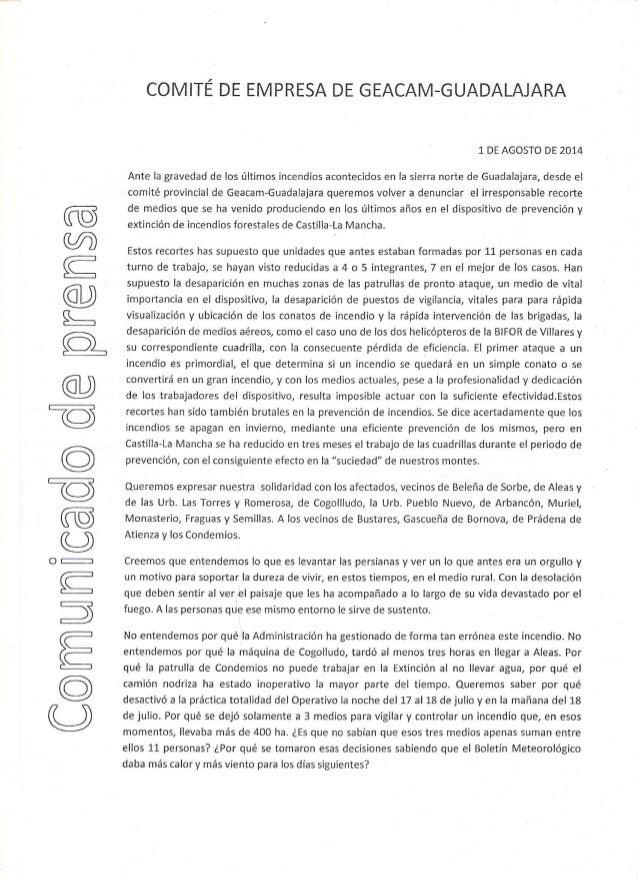 Comunicado prensa comité geacam guadalajara