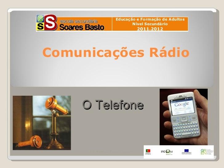 Educação e Formação de Adultos                          Nível Secundário10                                2011.2012 Comuni...