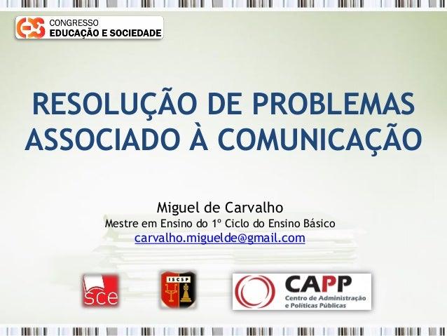 Comunicação Congresso Educação e Sociedade