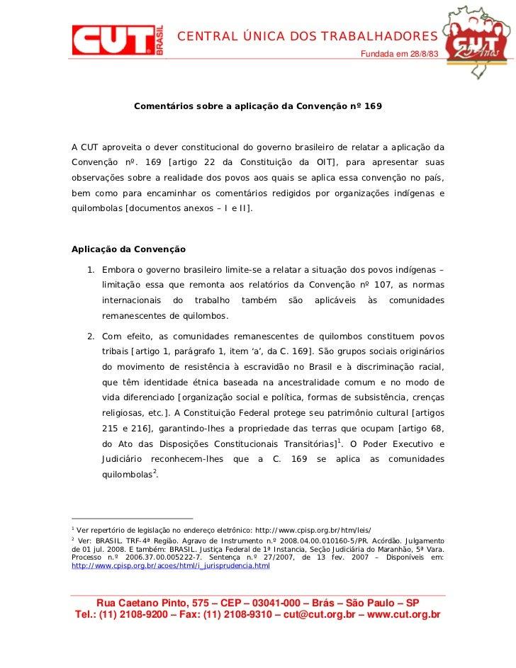 Comunicação cut em português   convenção 169