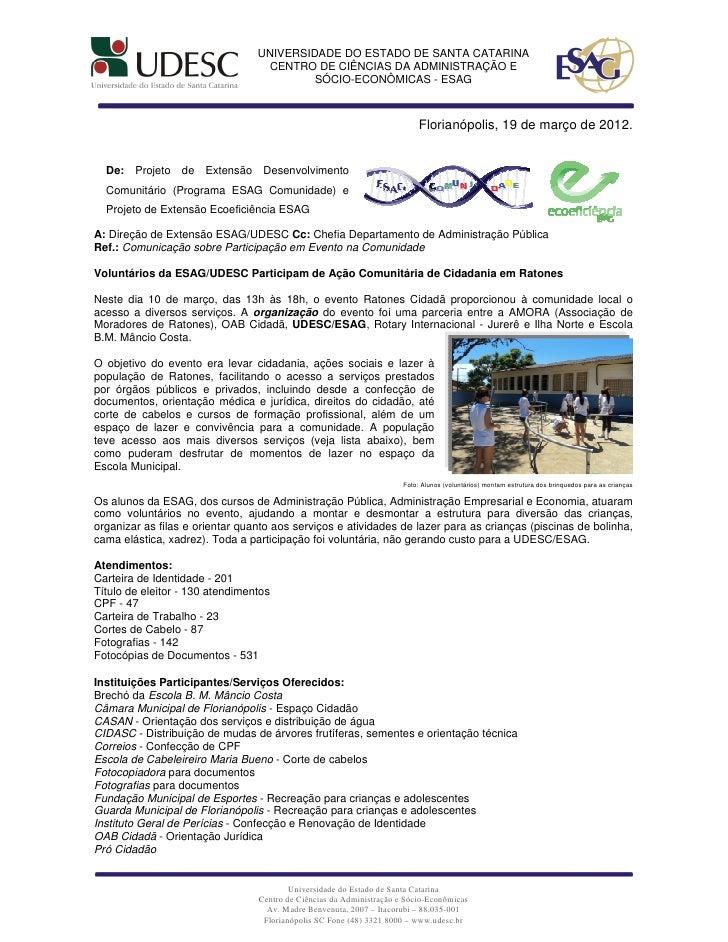 UNIVERSIDADE DO ESTADO DE SANTA CATARINA                                   CENTRO DE CIÊNCIAS DA ADMINISTRAÇÃO E          ...