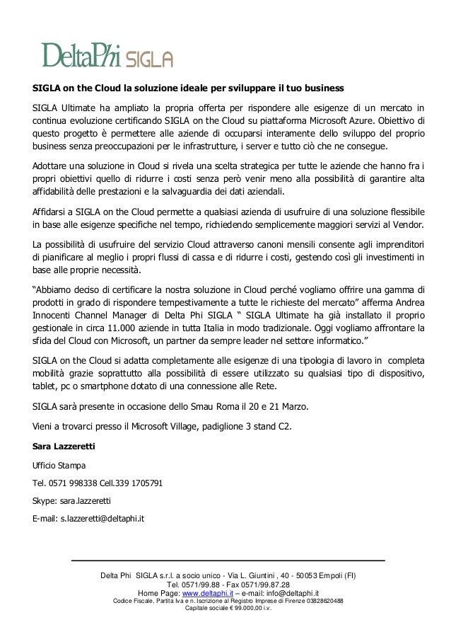 Comunicato stampa SMAU 2013 Roma