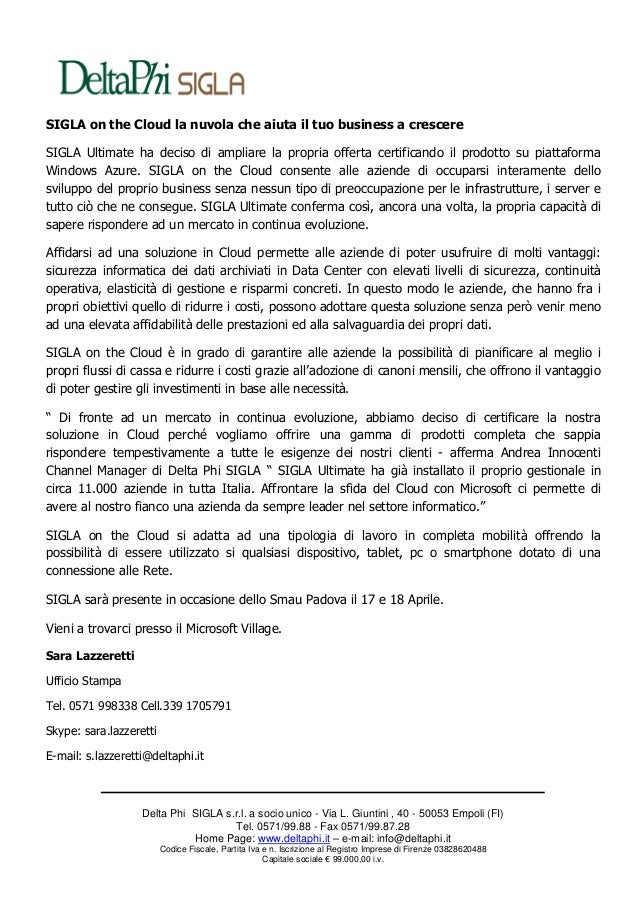 Comunicato stampa SMAU Padova 2013