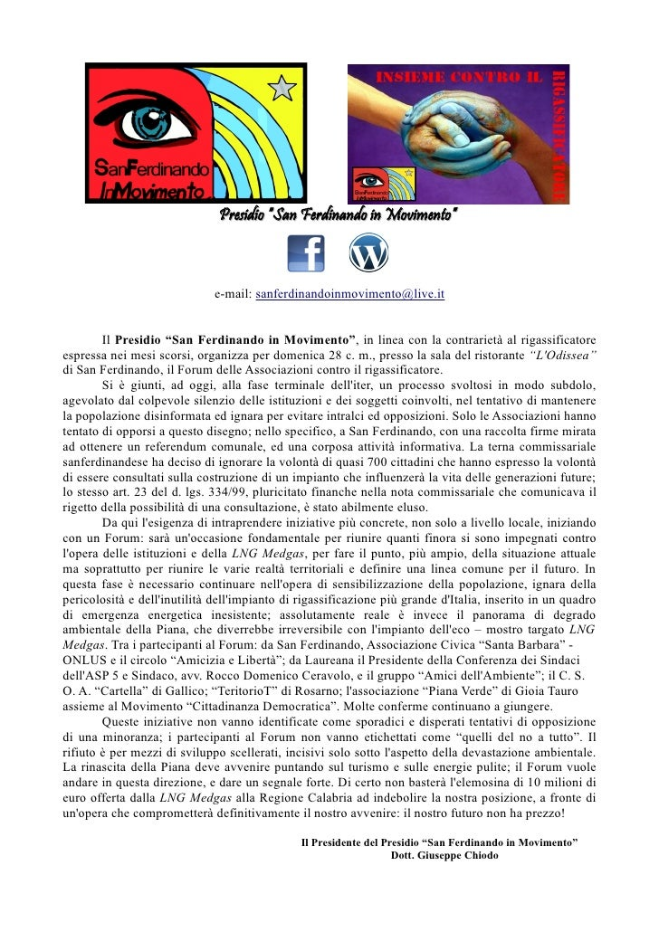 Comunicato Stampa Introduttivo Forum