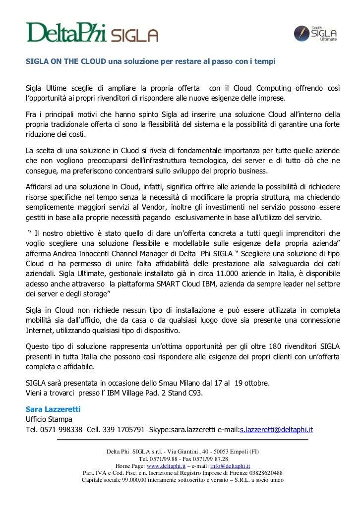 Comunicato stampa Smau Milano 2012
