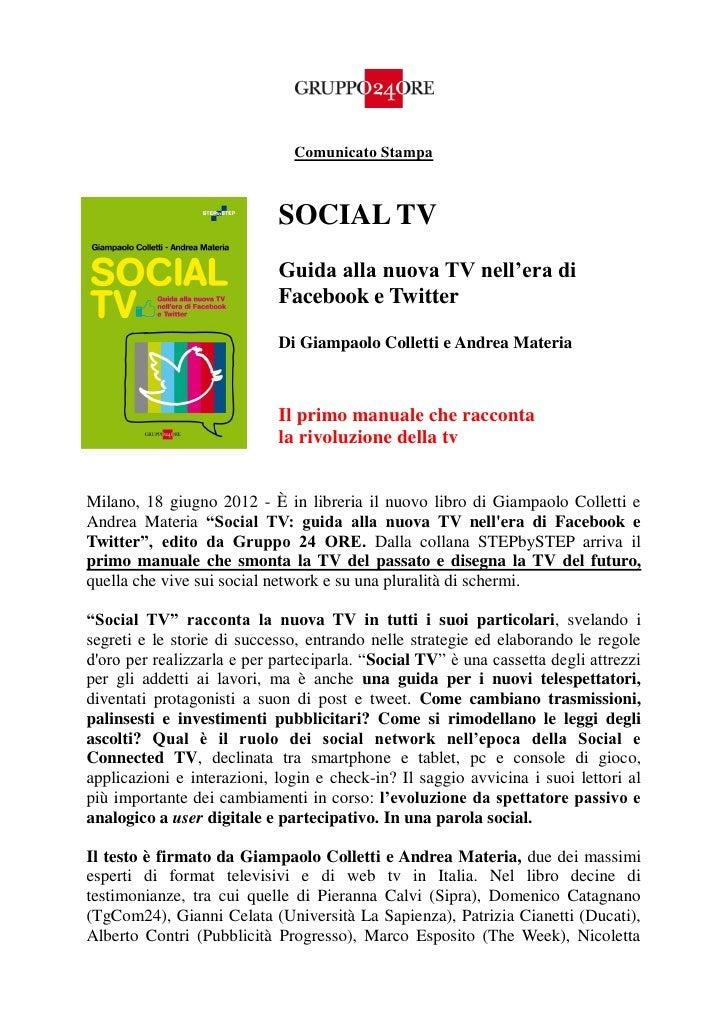Comunicato Stampa #SOCIALTV