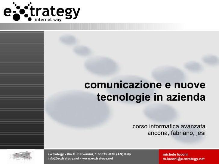 comunicazione e nuove tecnologie in azienda corso informatica avanzata ancona, fabriano, jesi