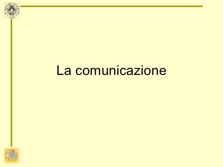 Comunicazione 2011