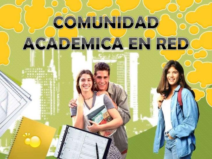 Comunidad academica en_red