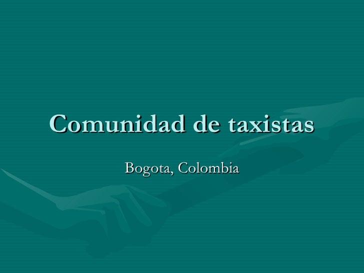 Comunidad de taxistas Bogota, Colombia