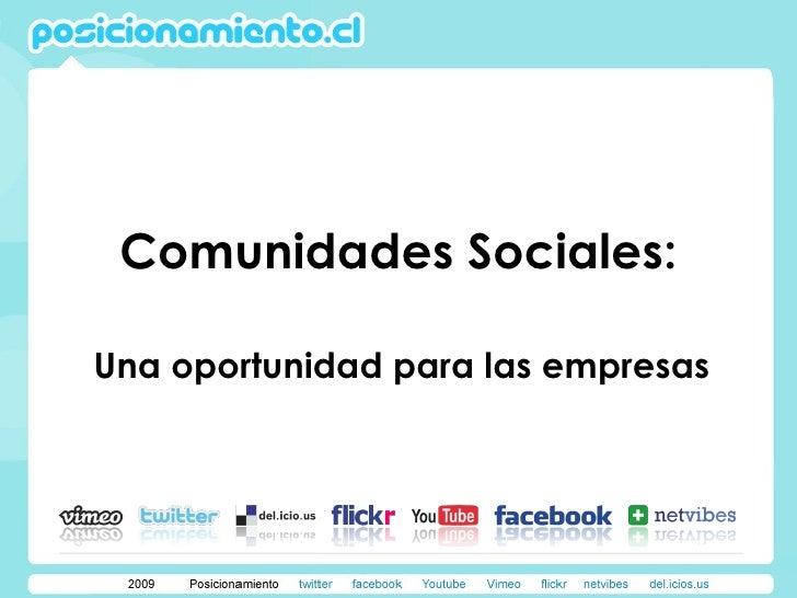 Comunidades Sociales:  Una oportunidad para las empresas