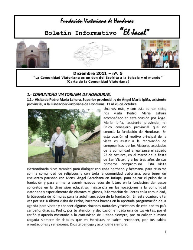 Comunidad viatoriana de jutiapa (honduras)   nº 5