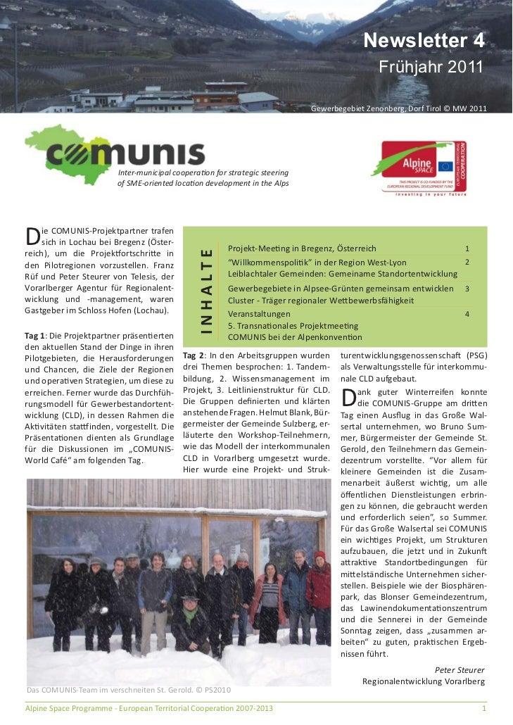 Comunis newsletter 4 Deutsch