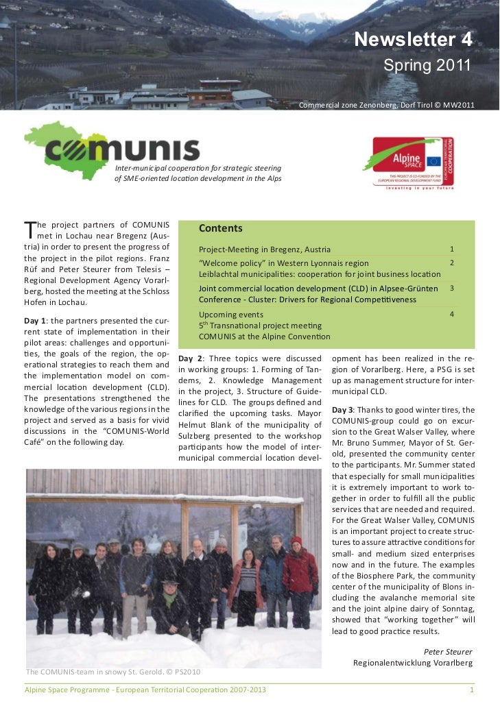 Comunis newsletter 4 English