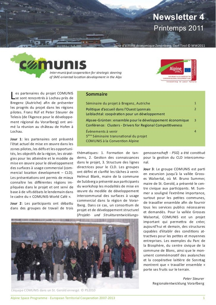 Newsletter 4                                                                                               Printemps 2011 ...