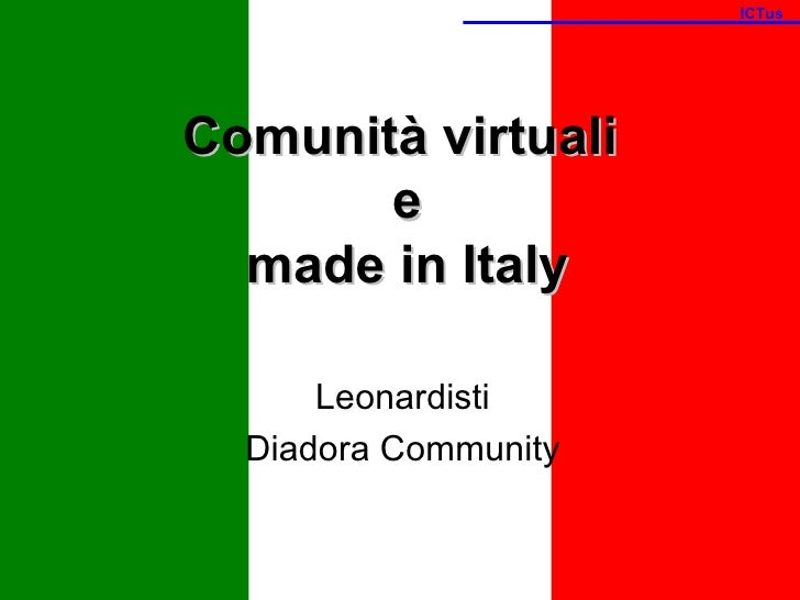 Comunità virtuali e Made in Italy