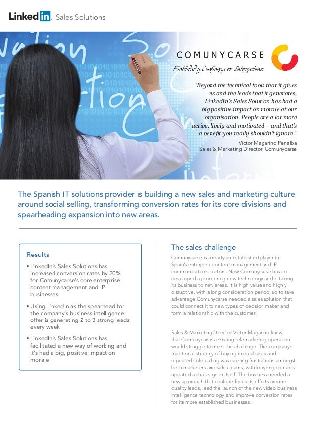 Comunycarse Network Consultants embrace Social Selling (English)