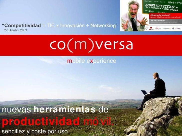 Co(m)versa Competitividad 27 Octubre Ponencia