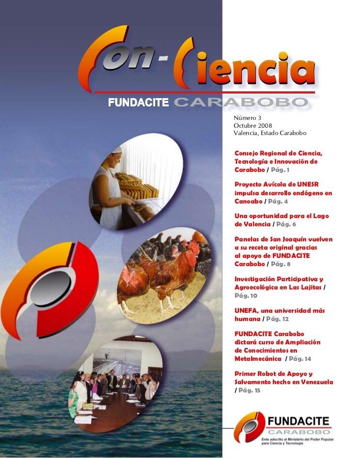 Número 3                                  Octubre 2008                                  Valencia, Estado Carabobo         ...
