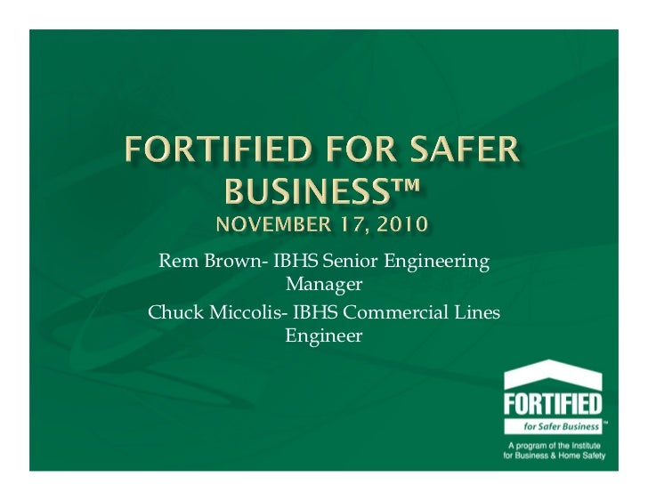 FORTIFIED for Safer Business™