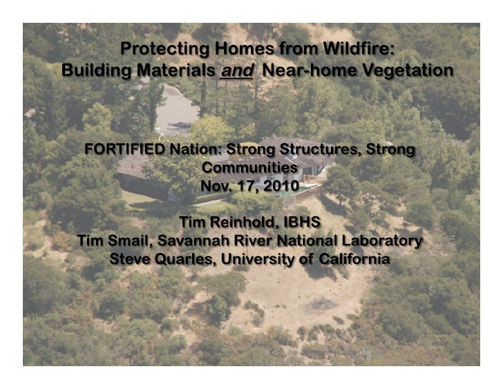 Wildfire Solutions through Science