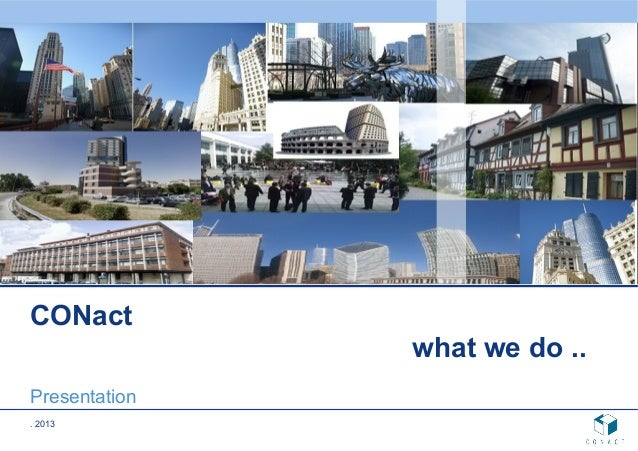 Conact company presentation 2013