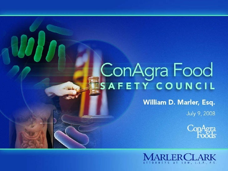 ConAgra Food Safety Council 2008 with Bill Marler