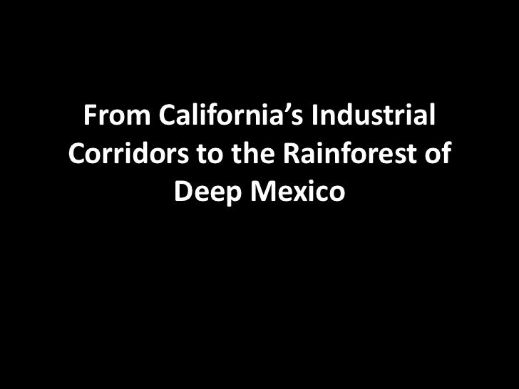 From California's Industrial Corridors to the Rainforest of Deep Mexico <br />