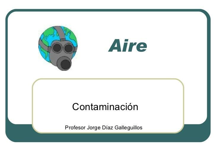 Conatminación del Aire