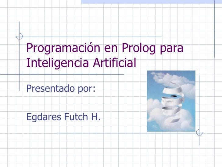 Programación en Prolog para Inteligencia Artificial
