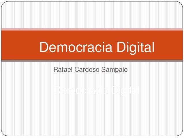 Conceito de democracia digital