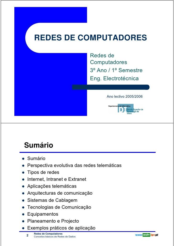 REDES DE COMPUTADORES                                                                    Redes de                         ...