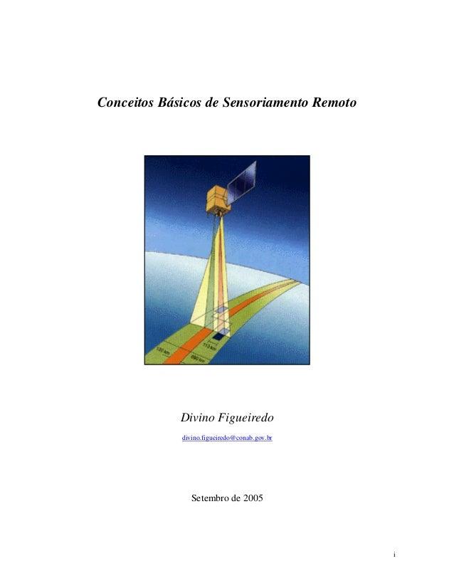 Conceitos Básicos de Sensoriamento Remoto  Divino Figueiredo divino.figueiredo@conab.gov.br  Setembro de 2005  i